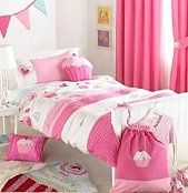 Cupcake Bedroom Decor, cupcake bedding