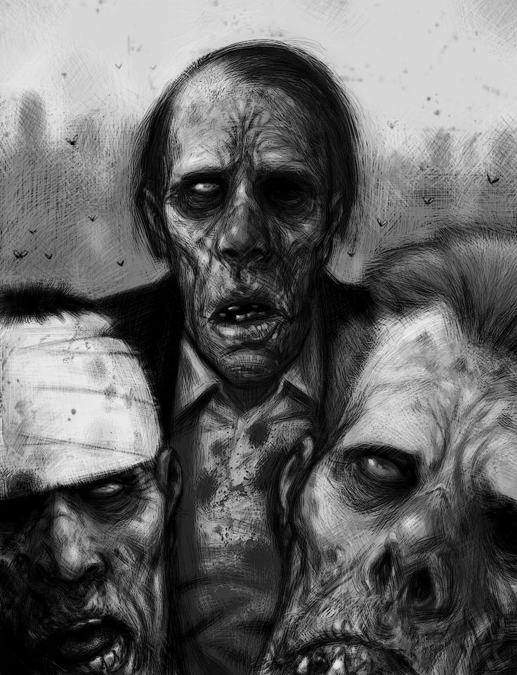 злой зомби картинка есть