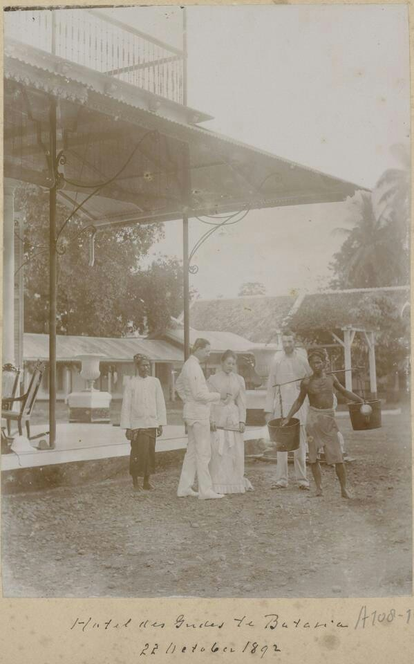 Indonesia ~  Hotel Des Indes 1892, Dutch Indies (Indonesia)