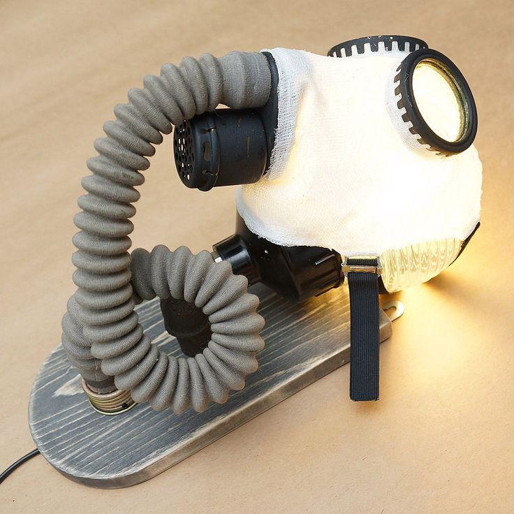 Настенный светильник №96 #противогаз #свет #лампа #бра #интерьер #бинты #lamp #light #interior #design #gasmask #bandage