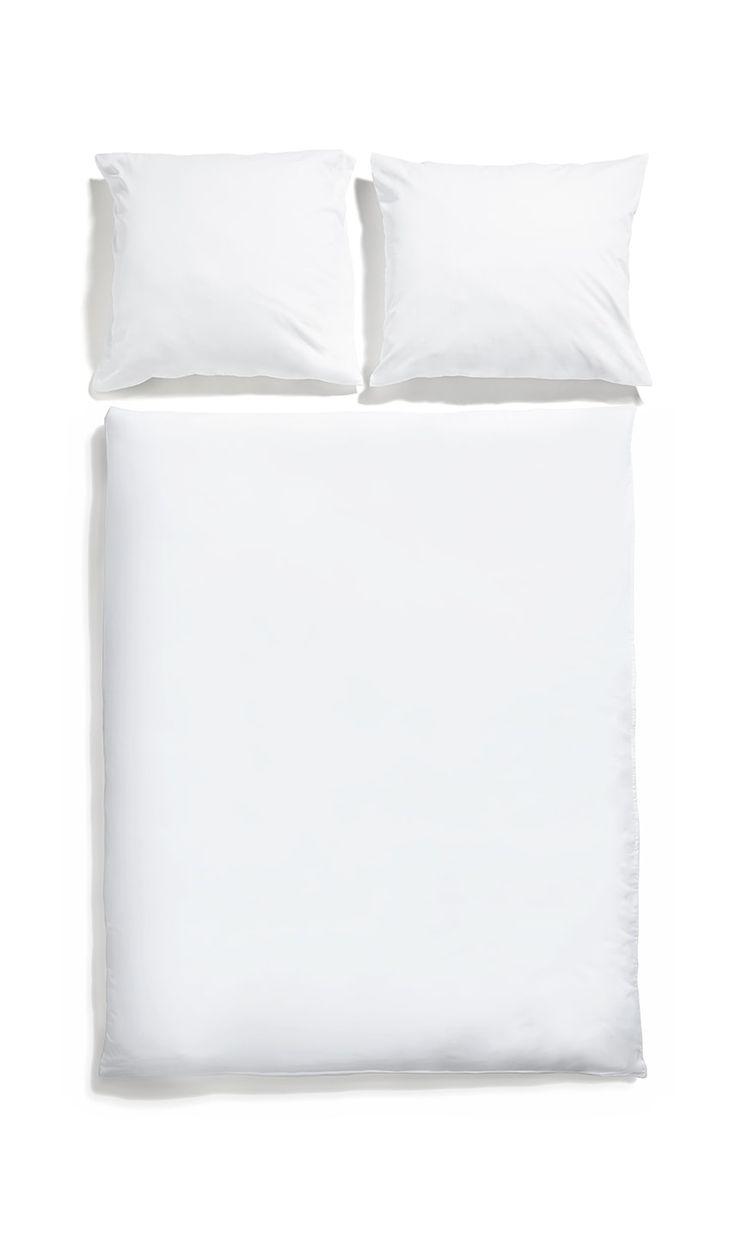 White pocket bedding #pure #cotton #simple
