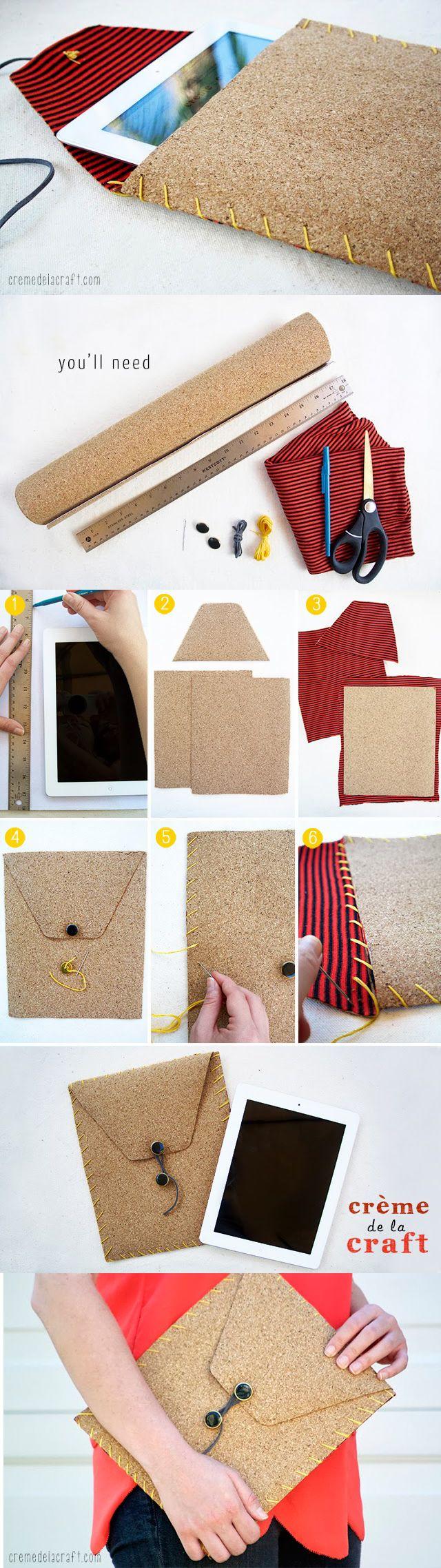 Original funda para tu iPad o tableta para hacer con tus propias manos