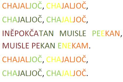 How to play the song Chajaljoč on boomwhackers.