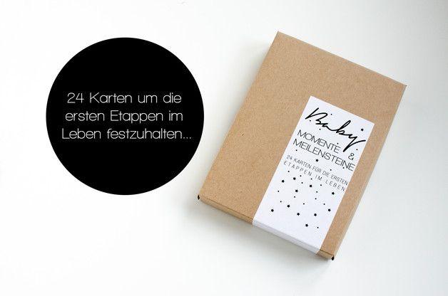 Babytagebücher - Meilensteine & Momente Baby Karten-Set - ein Designerstück von stil-arten bei DaWanda