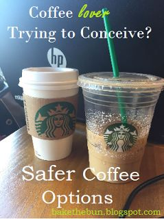"This is so helpful for the TTC process! Considering what level of caffeine and coffee intake is safe while trying to get pregnant -- includes handy charts of ""safe"" and ""unsafe"" drinks at Starbucks!! Great guide for pregnancy or pre-pregnancy."