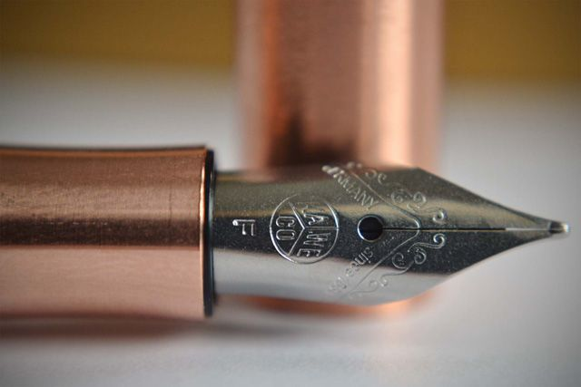 Kaweco Liliput Fountain Pen in Copper, with German-made stainless steel fine nib made by Bock of Heidelberg