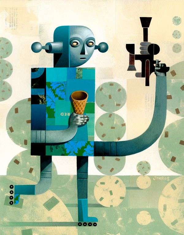 The Ice Cream Robot Series by Jon Reinfurt