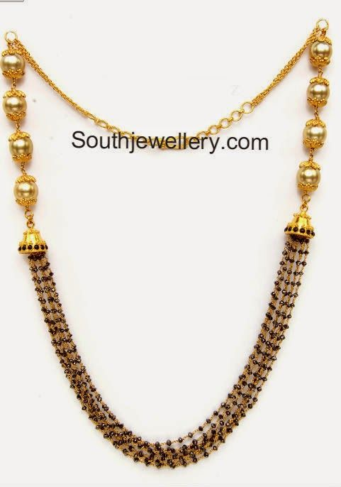 short black beads mangalsutra