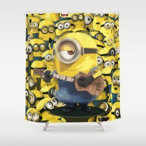 Sale And Online Discounts Of Minion Bathroom Decor Sets  Shower Curtains,  Toothbrush Holders, Soap Dispenser, Bathroom Rug.
