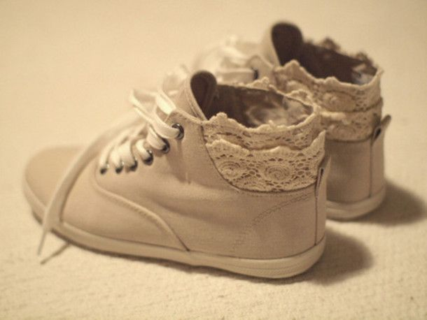 Lace Sneakers. Looks like an easy DIY.