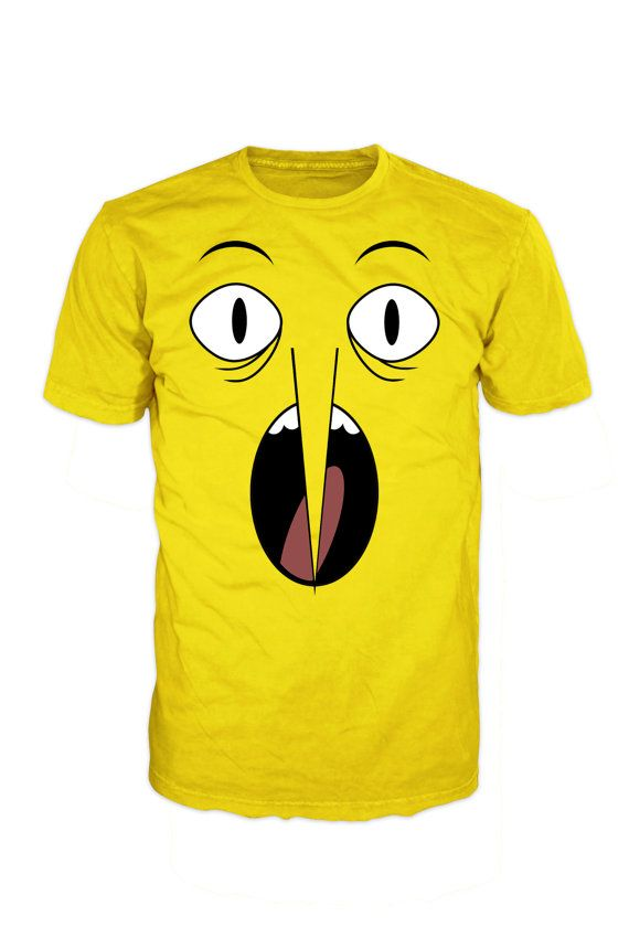 ADVENTURE TIME, Lemon Grab face T-shirt. Inspired by the hit TV show Adventure Time. Gildan Tee