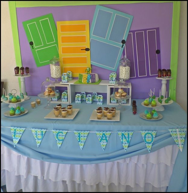 Monsters Inc. Birthday Party dessert table!  See more party ideas at CatchMyParty.com!