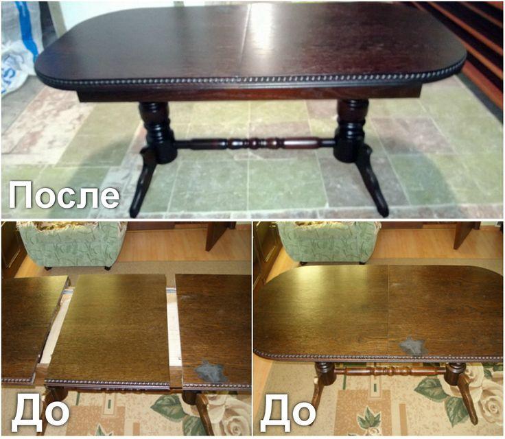 Фото работ по реставрации мебели