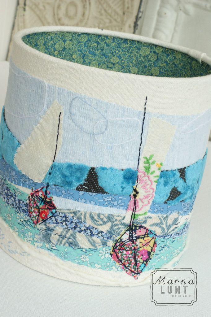 22 best embroidered lamp shades images on pinterest lampshades hand embroidered lampshade by marna lunt lined with liberty tana lawn marnalunt aloadofball Choice Image