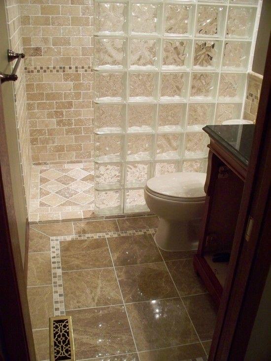 Interesting Photos Of Glass Block Showers Curbless And Glass Block Wall Lit And Glass Showe