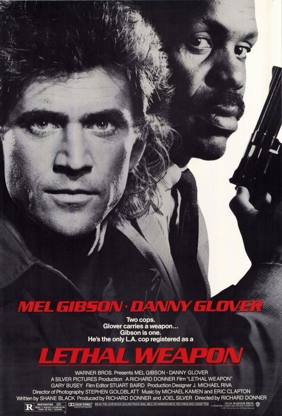 Lethal Weapon (1987). I would pause this and quickly draw Mel Gibson's facial expressions for practice.
