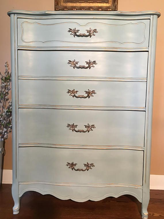 Sold Vintage French Provincial Dresser Chalk Painted