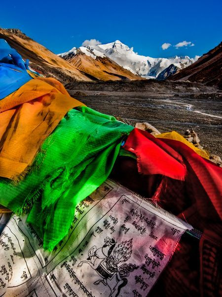 Everest and the Tibetan Prayer Flags  Photo by Nora de Angelli - www.noraphotos.com -- National Geographic Your Shot