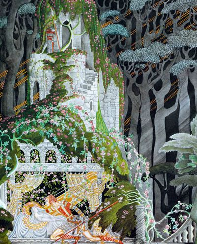 Brothers Grimm, Briar Rose?: Kay Nielsen, Sleep Beautiful, Sleeping Beauty, Kaynielsen, Art Nouveau, Illustrations, Art Deco, Fairytale, Fairies Tales
