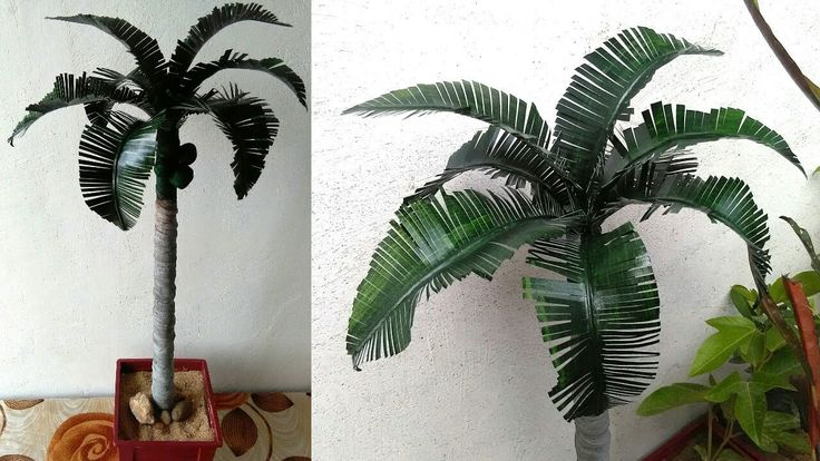 how to make an artificial palm tree