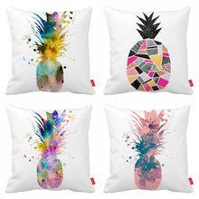Pop Art aquarelle Splash ananas impression voiture jettent décoratifs taie d'oreiller taie d'oreiller housse de coussin canapé Home Decor()
