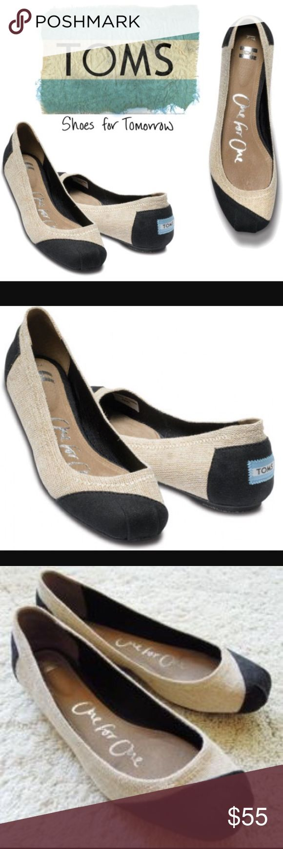 """$158 RETAIL TOMS RARE BULAP COMFY MUST HAVE FLATS $158.00 PLUS TAX RETAIL TOMS RARE BULAP COMFY MUST HAVE FLATS WOMENS SIZE 9.5 (sole measures 10"""" inches across the outside) WORN 5x GREAT USED CONDITION PLEASE SEE ALL PICTURES PRIOR TO PURCHASE. GREAT COLORS MARCH EVERYTHING. FEEL LIKE SLIPPERS CAN WEAR THEM ALL DAY. •••PRICED TO SELL SAME DAY, OFFERS WELCOME THROUGH THE OFFER OPTION, NO TRADES OR HOLDS••• TOMS Shoes Flats & Loafers"""