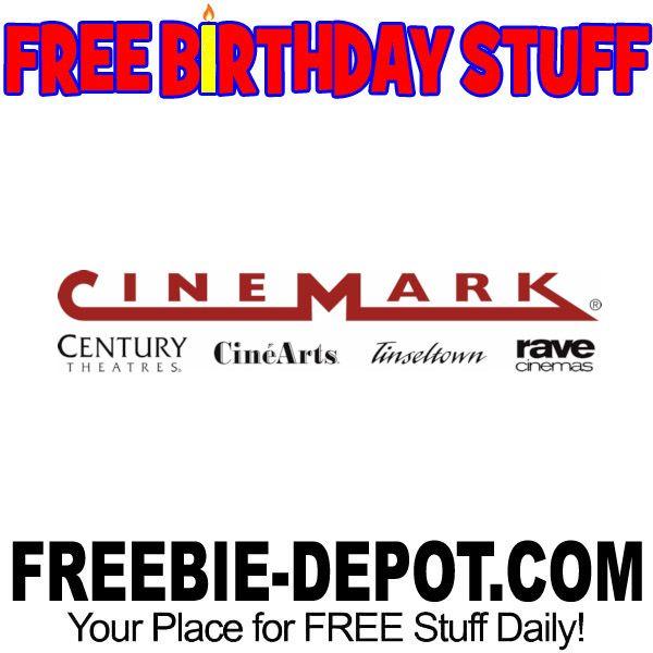 ►► FREE BIRTHDAY STUFF - Cinemark Theaters - CineArts - Century Theatres - Tinseltown - Rave Cinemas ►► #BDay, #Birthday, #BirthdayFreebie, #BirthdayGift, #FreeBirthdayStuff, #FrugalFind, #FrugalLiving, #HappyBirthday ►► Freebie Depot