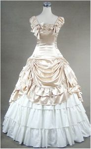 Gorgeous Light Champagne and White French Style Ball Gown Lolita Dress Cosplay Costume for Sale
