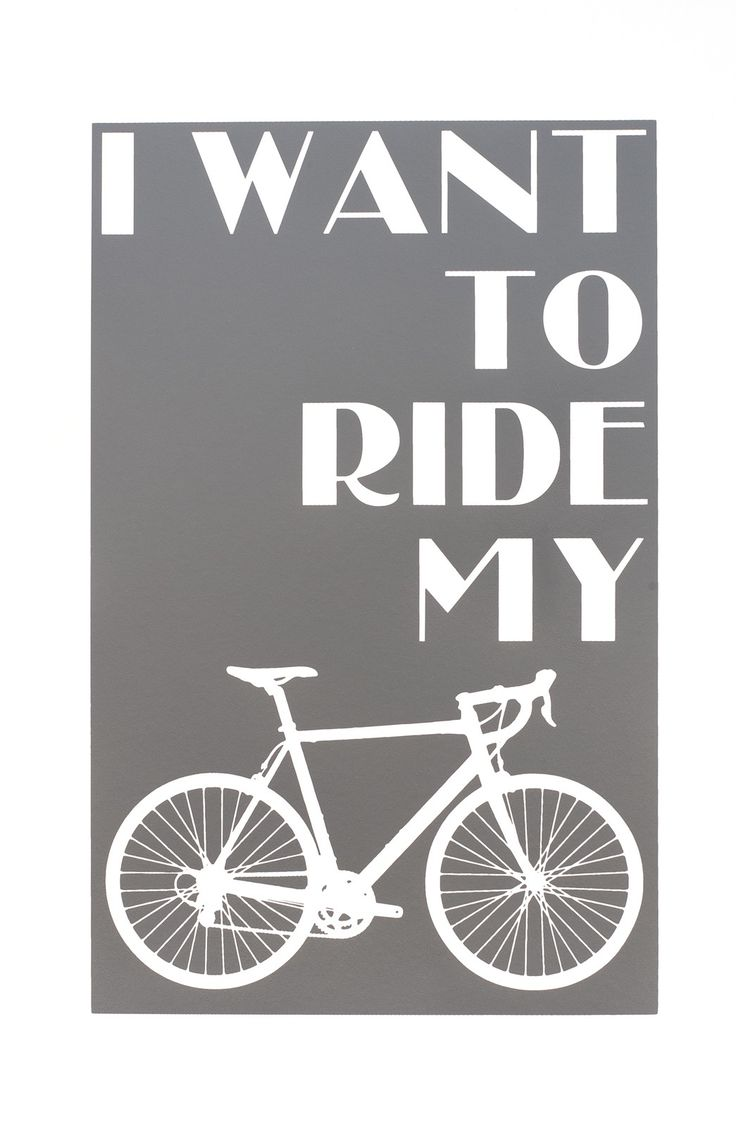 "Ride My Bicycle Print  -- ""I want to ride my bicycle, I want to ride my bike."" ... Two separate prints for the garage; bicycle and motorcycle! :)"
