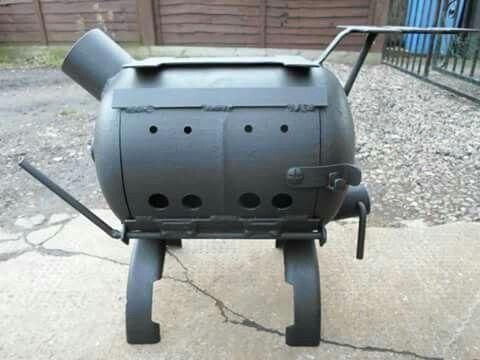 Camping Gas Bottle Wood Burner For Cooking, By Barry Wood @ https://m.facebook.com/LogWoodBurners