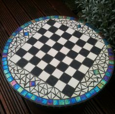 mosaic chess board table - like colors