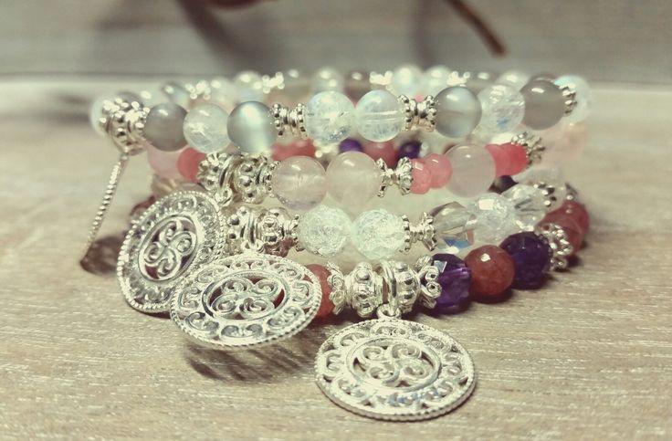 Armbänder mit Silber 925 und Halbedelsteine