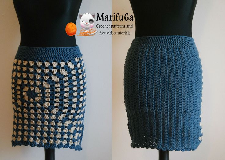 How to crochet easy warm skirt for beginners free tutorial pattern