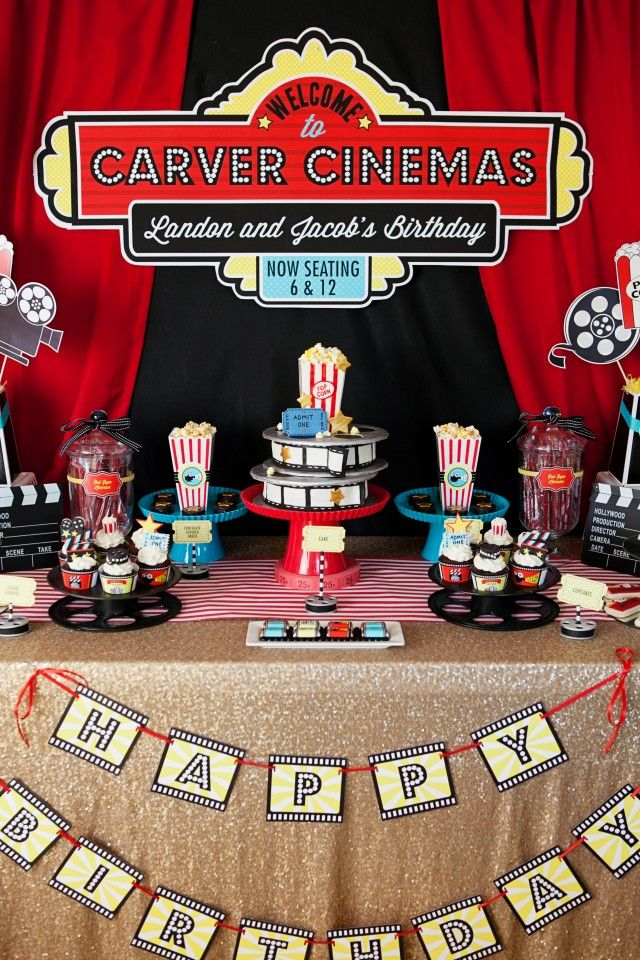 Amazing movie themed party by Jen Carver of Banner Events
