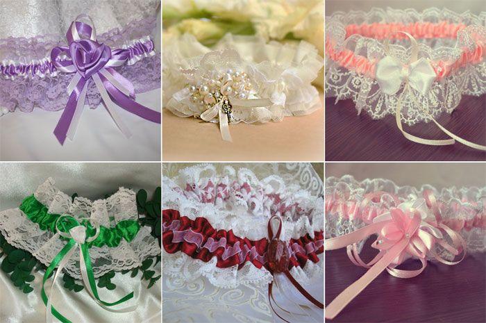 Кружевные подвязки для невесты