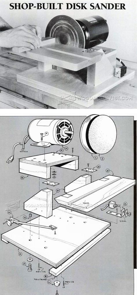 DIY Disk Sander - Sanding Tips, Jigs and Techniques   WoodArchivist.com