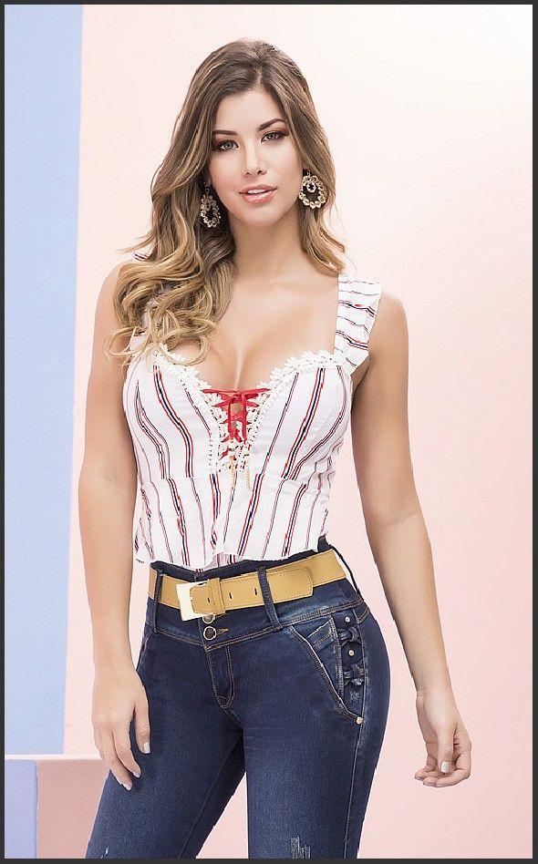 Jean Colombianos Originales Trajes De Moda Juvenil Pantalones De Moda Mujer Ropa Mujer Elegante