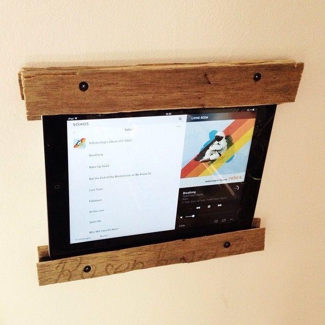 iPad-Wandhalterung für die Küche aus alter Obstkiste #diy #crate