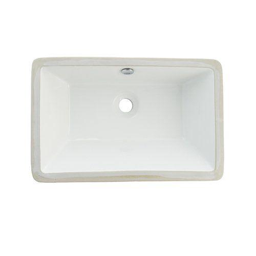 Shop Elements Of Design ELB21137 Castillo Undermount Basin Under Mount Bathroom Sink At ATG