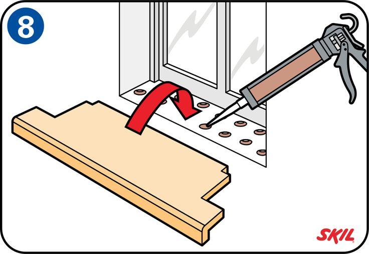 Montering av ny fönsterbänk - Sätt fönsterbänken på plats