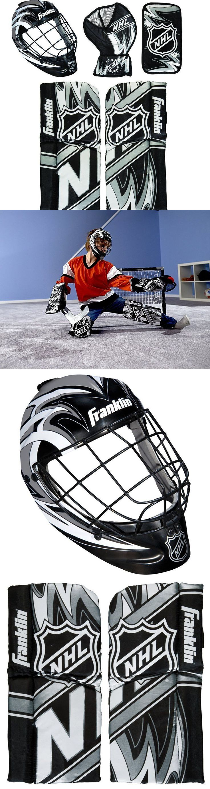 Other Hockey Goalie Equipment 79765: Franklin Sports Nhl Mini Hockey Goalie Equipment With Mask Set BUY IT NOW ONLY: $42.18