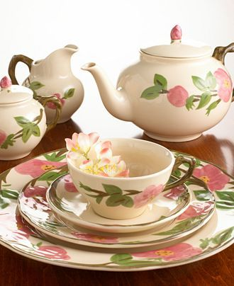My dear sweet grandma Haney had the Desert Rose dishes set out at every special meal. The food my grandma prepared was as delicious as her plates were beautiful!! Sweet memories for me.
