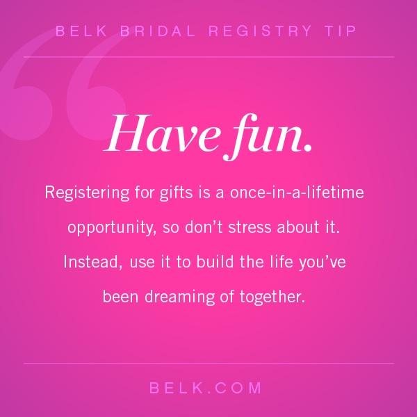Bridal Registry Tip 5 #belk #bridal registry