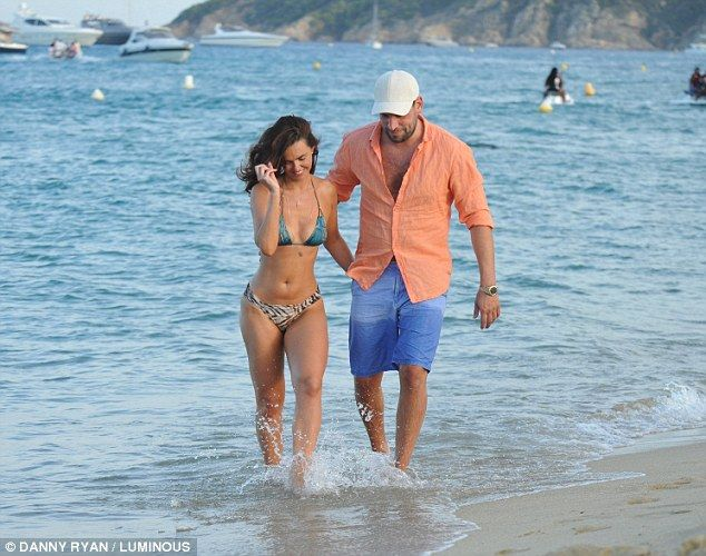 Smitten: Greg, formerly of Geordie Shore fame, seemed unfazed by his sopping wet shorts as...