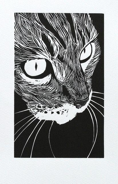 woodcut 'Tabby'