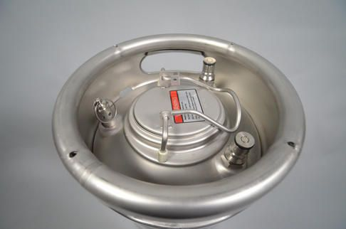The Cornical keg with the keg hatch and pressure relief valve (50 PSI)