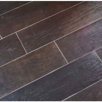 Faux bois wood porcelain tiles living rooms for Simulated wood flooring