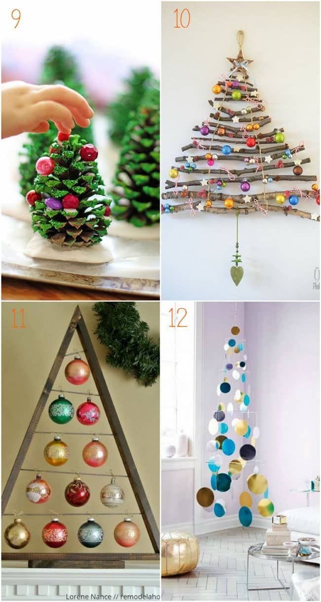 38 inspiring alternative Christmas Tree ideas to