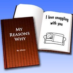 Personalized Hard Cover Love Book  $44.95