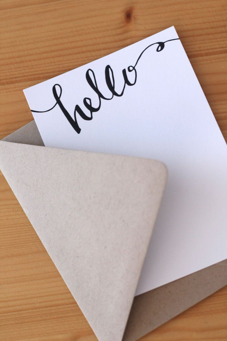 FREE PRINTABLE: Hello Stationery / Rebekah Disch Design